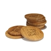 Engraved Bamboo Coaster Set - Round - Home Sweet Home Simple - (10 Coasters/Set)