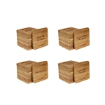 Assorted Beer/Wine Laser Engraved Bamboo Coasters - Square