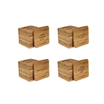 Assorted Coffee/Tea Laseer Engraved Bamboo Coaster - Square