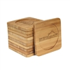 Engraved Bamboo Coaster Set - Square - Family Home - (10 Coasters/Set)