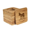 Engraved Bamboo Coaster Set - Square - Democrat - (10 Coasters/Set)