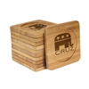 Engraved Bamboo Coaster Set - Square - Republican - (10 Coasters/Set)