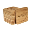 Engraved Bamboo Coaster Set - Square - Family Sign - (10 Coasters/Set)