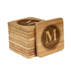 Engraved Bamboo Coaster Set - Square - Family Circle - (10 Coasters/Set)