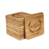 Engraved Bamboo Coaster Set - Square - Family Laurel - (10 Coasters/Set)