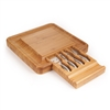 Bamboo Cheese & Sushi Board with Cutlery Set