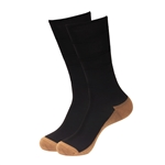Black Copper Unisex Rayon from Bamboo Copper Compression Socks (15-20mmHg)