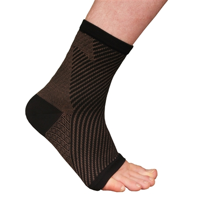 Copper Compression Ankle Sleeve Brace, Rayon from Bamboo Copper Infused Ankle Support Brace
