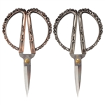 Embroidery Scissors with Decorative Cast Handles, Delicate Roses