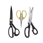 Sewing Scissors Set with Embroidery and Pinking Shears for Sewing, Arts, Crafts