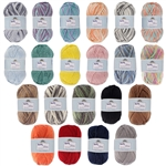 Worsted Weight Soft Slim Bamboo Wool Yarn - 100g/skein