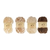 Fun Fur Yarn Brown Color Pallete