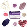 12pc DIY Bamboo Knitting Kit | 477 Yards of Yarn! - Purple