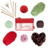 12pc DIY Bamboo Knitting Kit | 477 Yards of Yarn! - Red