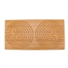 "Rectangle Double Finger Labyrinth - 25"" x 12.5"" - 7 Circuit Cretan Style"