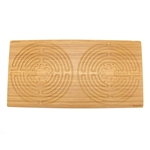 "Rectangle Double Finger Labyrinth - 25"" x 12.5"" - 7 Circuit Chartres Style"