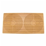 "Rectangle Double Finger Labyrinth - 25"" x 12.5"" - 11 Circuit Chartres Style"