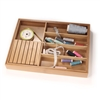 BambooMN Bamboo Adjustable Drawer Organizer