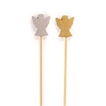 BambooMN Angel Bamboo Picks Skewers for Desserts Appetizers Drinks - Various Sizes and Quantities