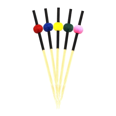 "2.75"" Premium Bamboo X-Small Round Ball Skewer Picks, Party Supplies"