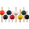 "3.9"" Premium Bamboo Small Round Ball Skewer Picks, Party Supplies"