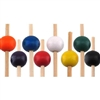 "4.7"" Premium Bamboo Medium Round Ball Skewer Picks, Party Supplies"