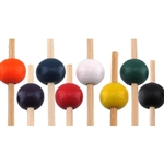"5.9"" Premium Bamboo Large Round Ball Skewer Picks, Party Supplies"