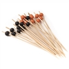 BambooMN Halloween Bamboo Round Ball Picks - Black & Orange