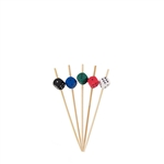 Decorative Dice Party End Bamboo Picks Skewers, Party Supplies