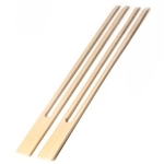 Natural Bamboo Long Double Prong Skewer, 18mm Wide, Party Supplies