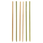 Green Natural Bamboo Flat Stick Picks