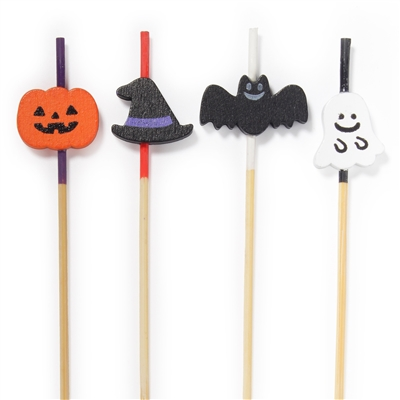 Halloween Bamboo Assorted Picks