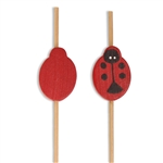 Premuim Decorative Red Lady Bug Bamboo Picks, Party Supplies