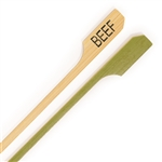 Beef Meat Marker Marking Bamboo Paddle Picks Skewers, Party Supplies