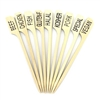 "Food Marker Marking Bamboo Paddle Pick  - 3.5"" (9cm)"