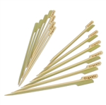 Organic Food Marker Marking Bamboo Paddle Picks Skewers, Party Supplies