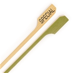Special Meat Food Marker Bamboo Paddle Pick Skewers, Party Supplies