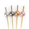 Premium Decorative Shiny Pearl Bamboo Picks Skewers, Party Supplies