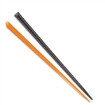 BambooMN Halloween Bamboo Triangular Prism Picks - Black & Orange