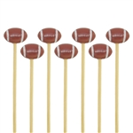 Decorative Sports Ball End Bamboo Picks Skewers, Party Supplies