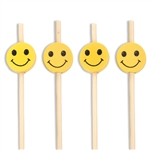 Decorative Smiley Face Bamboo Picks Skewers, Party Supplies