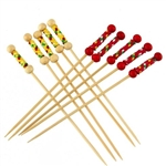 Premium Decorative Bamboo Braided String Picks Skewers, Party Supplies