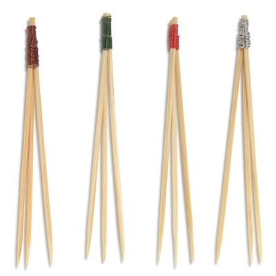 Premium Natural Bamboo Wire Trident Picks Skewers, Party Supplies
