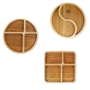 bamboo divided plate