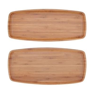 Reusable Bamboo Ecoware Rectangle Plate Tray