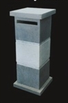 Mail Boxes - Blue Stone and Column Stone - 1 Unit
