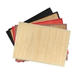 "Bamboo Slat Placemat with Fabric Border - 13"" X 18.25"""