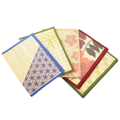 Bamboo Placemats with Fabric Border