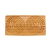 "Rectangle Double Finger Labyrinth - 12"" x 6"" - 7 Circuit Cretan Style"