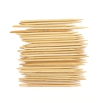 Disposable Bamboo Nail Art Manicure Pedicure Sticks Cuticle Pushers Remover Tool 4.2""